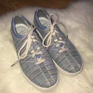 Dansko woven fabric lace up comfort sneakers shoes